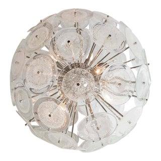 Custom Pulegoso Murano Disc Sputnik Chandelier For Sale