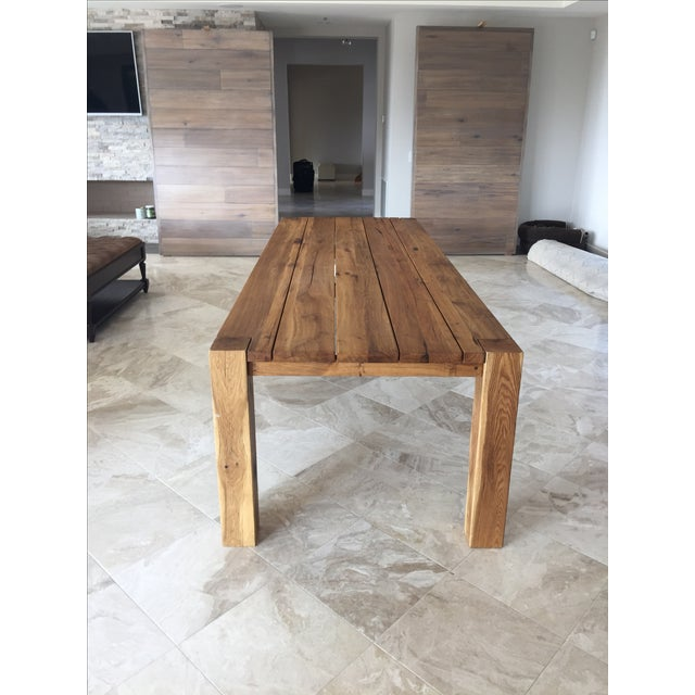 bc5cfd18a29e0 Restoration Hardware Reclaimed Russian Oak Parsons Rectangular. Restoration  Hardware Natural Oak Dining Table Chairish