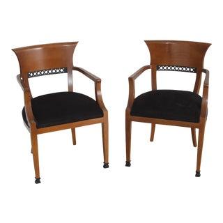 1980s Vintage Biedermeier Style Vintage Armchairs- a Pair For Sale