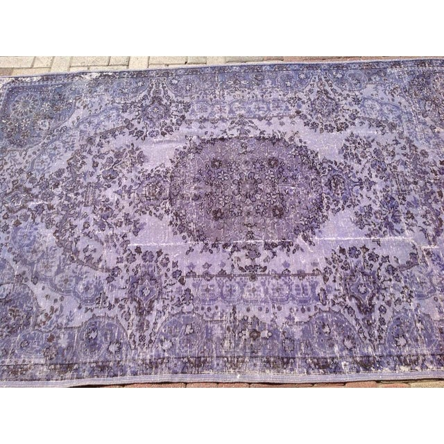 Over-Dyed Turkish Rug - 5′1″ × 8′1″ - Image 4 of 7