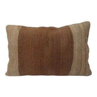 Turkish Brown Natural Kilim Pillow For Sale