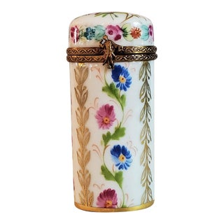 Vintage Limoges Tall Ring Box For Sale