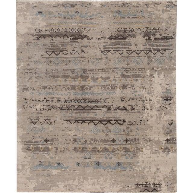"Apadana - 21st Century Contemporary Indian Rug, 8'3"" x 9'9"" For Sale"