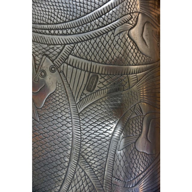 Mid-Century Modern Polished Aluminum Fish Platter by Arthur Court For Sale - Image 3 of 6
