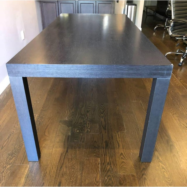 Contemporary Ligne Roset Walnut Dining Table For Sale - Image 3 of 11