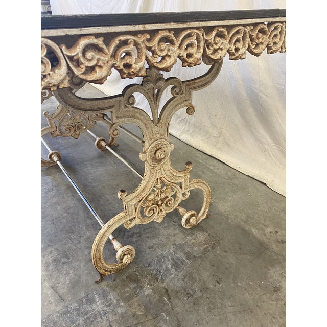 French Pastry Table With Iron Base - 19th C For Sale - Image 10 of 12