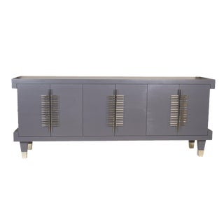 Robin Baron Dark Gray Simon Credenza For Sale