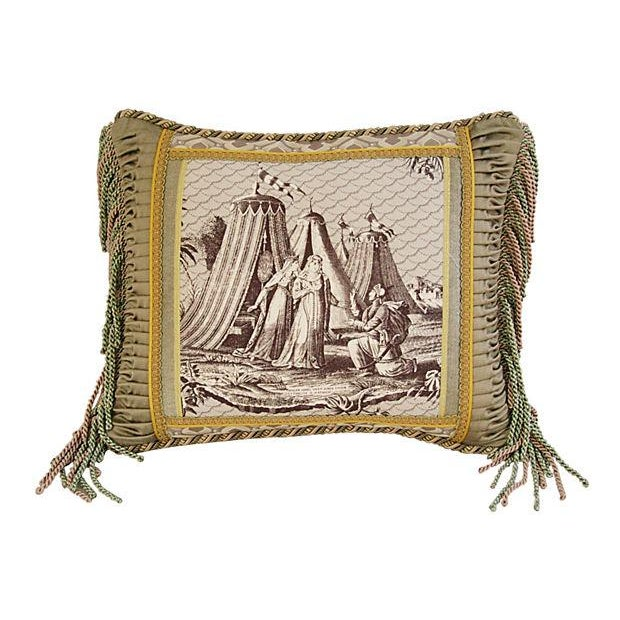 Designer Jane Shelton French Toile Accent Pillow - Image 6 of 6