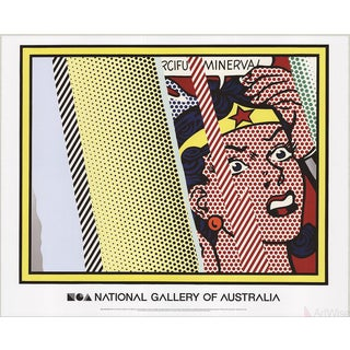 Roy Lichtenstein, Reflections on Minerva, 2013, Offset Lithograph For Sale