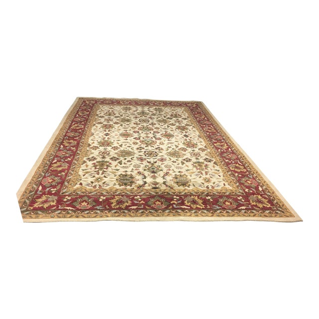 Home Traditions & Textiles Persian Style Wool Rug- 9′4″ × 13′4″ - Image 1 of 7