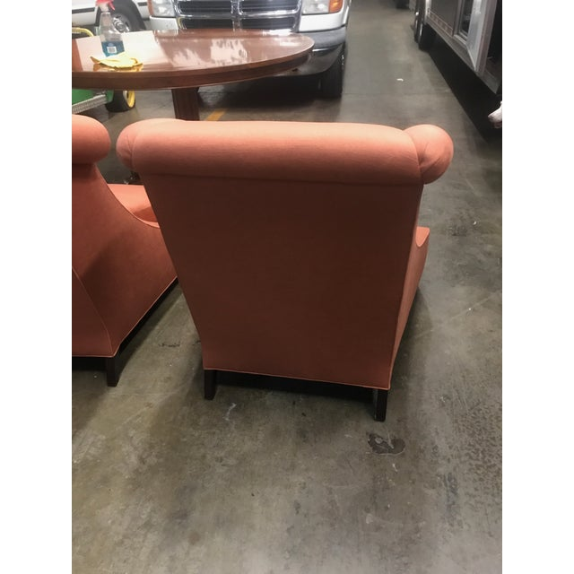 Baker Furniture Villa Club Chairs by Thomas Pheasant - a Pair For Sale In Louisville - Image 6 of 11