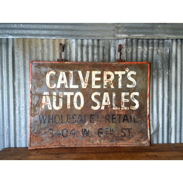 Vintage Auto Trade Sign - Image 4 of 11