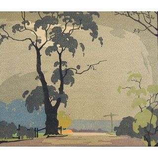 Crossroads Woodcut Print by Edward Loxton Knight For Sale
