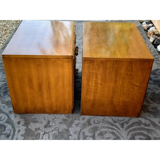 Vintage faux bamboo nightstands in very good condition with original finish. You can purchase them as is for $600 or have...