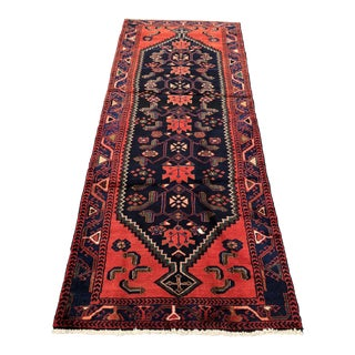 Vintage Persian Zanjan Runner - 3′2″ × 8′1″ For Sale