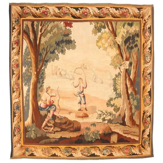 Finely woven antique 19th century French tapestry. Contact dealer Excellent condition.