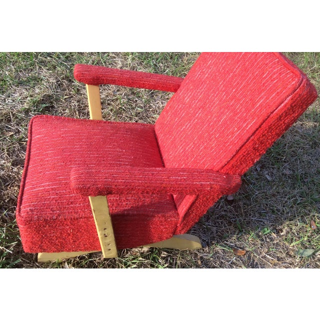 1950s Vintage Mid Century Child's Rocking Chair - Image 5 of 8