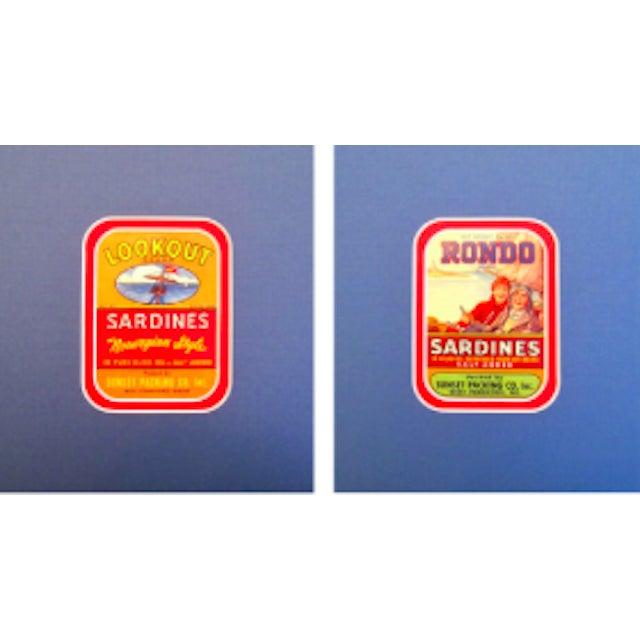 Original Matted 1940s Sardine Labels - A Pair - Image 1 of 2