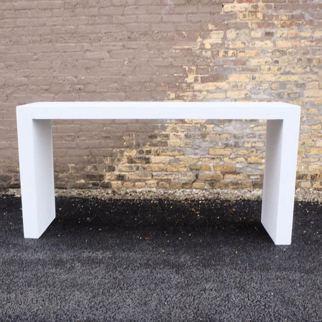 The Lynne Tell Console table is extremely versatile. Pictured in our White Stone finish, the texture and modern look of...