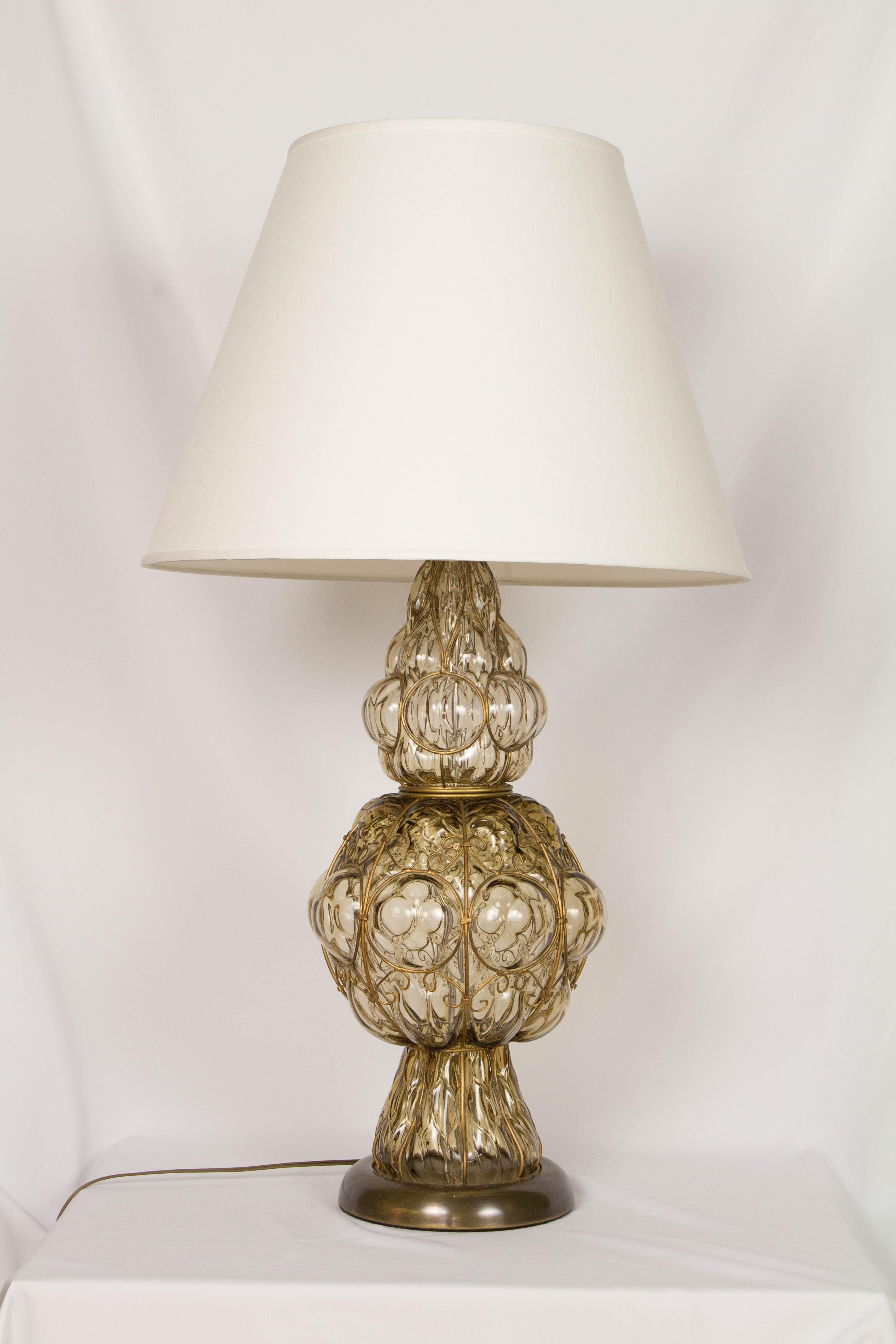 Marbro Murano Caged Glass Table Lamp Chairish