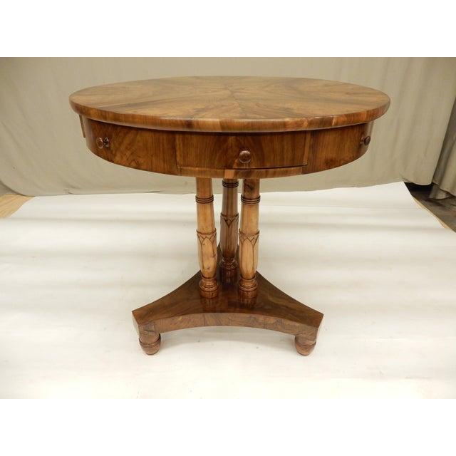 Wood Early 19th Century Biedermeier Walnut Gueridon For Sale - Image 7 of 7