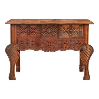 Handsome Nahuala Carved Console For Sale