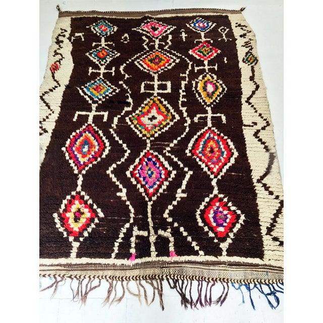Azilal Moroccan Wool Rug - 4′5″ × 6′1″ - Image 4 of 7