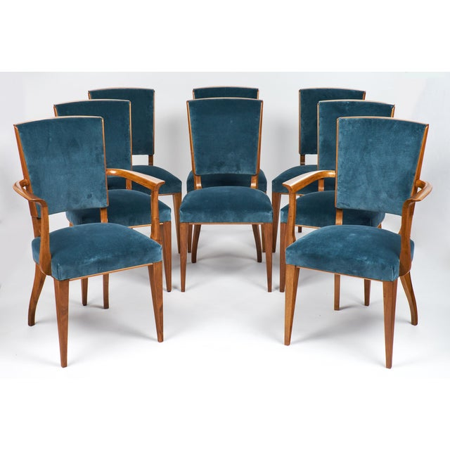 French Art Deco Cherrywood Dining Chairs- Set of 6 - Image 2 of 10