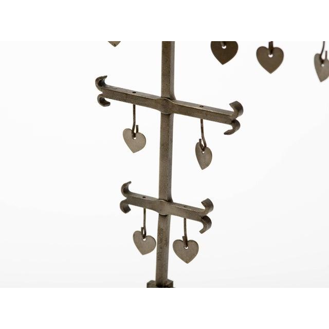 Swedish 1960s Steel Hearts Candelabra For Sale - Image 4 of 10