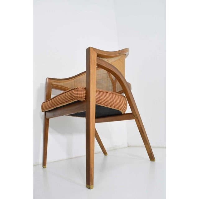 1950s Dunbar Cane Back Lounge Chairs by Edward Wormley - a Pair For Sale - Image 5 of 11