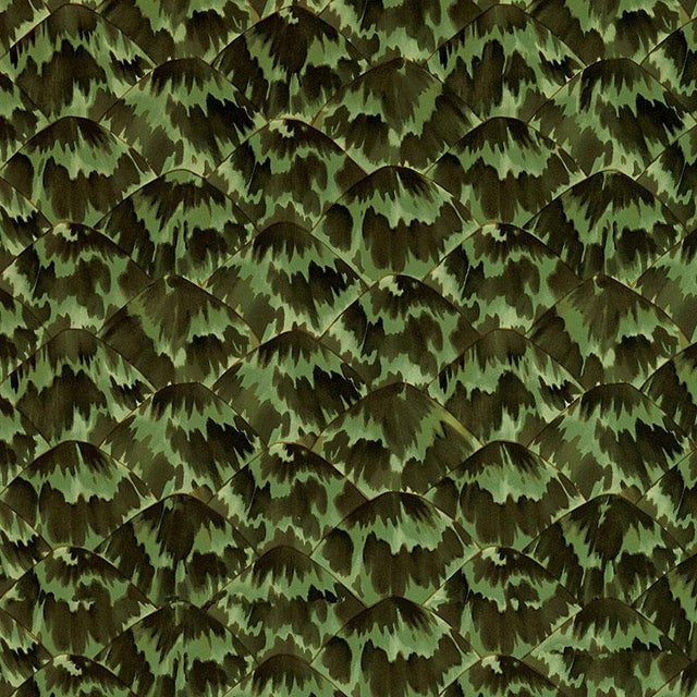 Schumacher Celerie Kemble Tortoise Amazon Wallpaper For Sale
