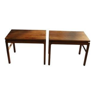 Mid-Century Modern Gunlocke Walnut Side Tables - a Pair For Sale