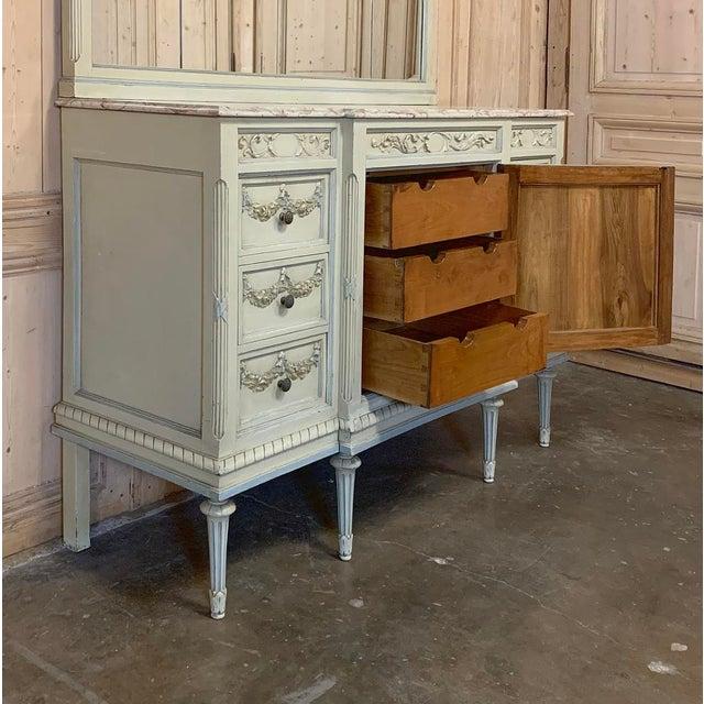 Antique Italian Louis XVI Painted Dresser ~ Linen Press For Sale - Image 10 of 13