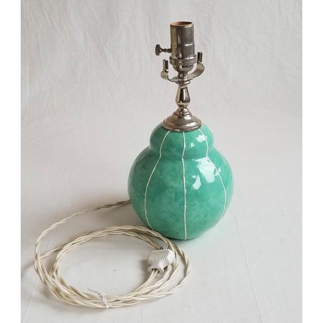 Small Handmade Ceramic Table Lamp - Image 3 of 4