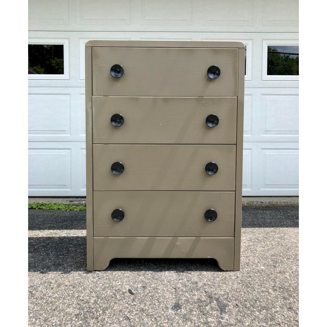 Art Deco Metal Industrial Tall Dresser by Joseph Turk 1930's For Sale - Image 13 of 13