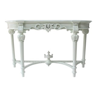 French Louis XV Style Lacquered Console Table For Sale