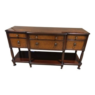 Traditional Baker Furniture Milling Road Console For Sale
