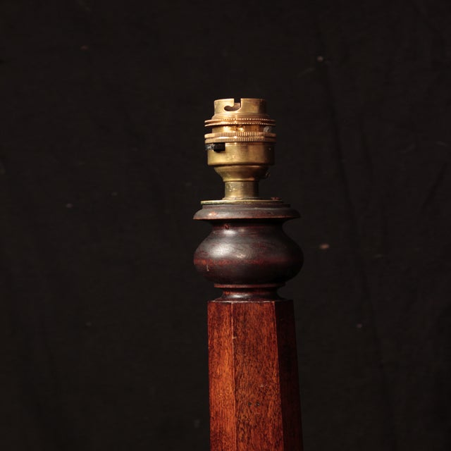 19th Century Mahogany Octagon-Base Floor Lamp - Image 2 of 3