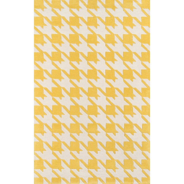 Contemporary Momeni Delhi Hand Tufted Yellow Wool Area Rug 5' X 8' For Sale In Atlanta - Image 6 of 6