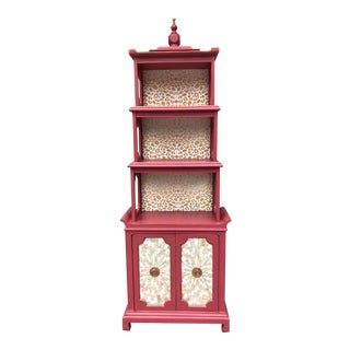 1980s Century Furniture Pagoda Style Etagere For Sale