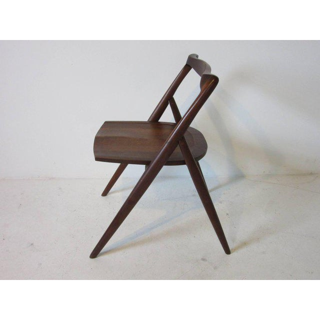 Arts & Crafts George Suyeoka Studio Chair Prototype in the Style of George Nakashima For Sale - Image 3 of 7