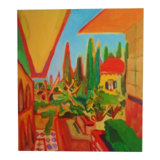 1990s Richard Youniss Original Tuscany Vista Abstract Painting For Sale