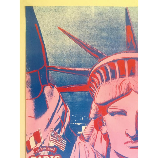 """1980s Andy Warhol Rare 1986 Lithograph Print Paris Exhibition Poster """" 10 Statues of Liberty """" For Sale - Image 5 of 13"""