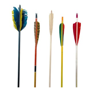Colorful Vintage Arrows - Set of 5 For Sale