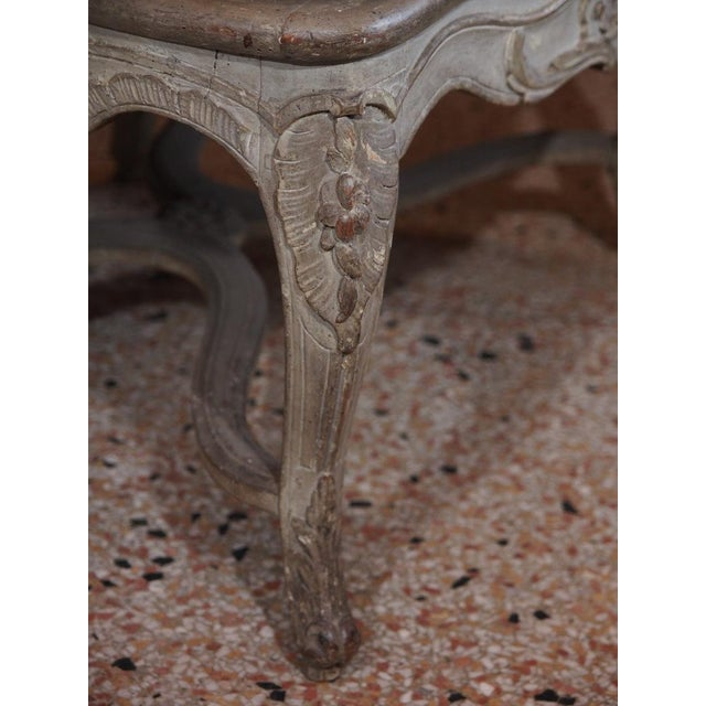 Red 18th Century Painted Regence Chair For Sale - Image 8 of 8