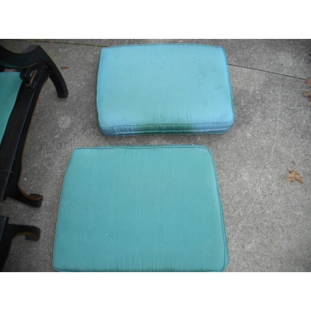 Fabric James Mont Style Asian Lounge Chairs - A Pair For Sale - Image 7 of 11