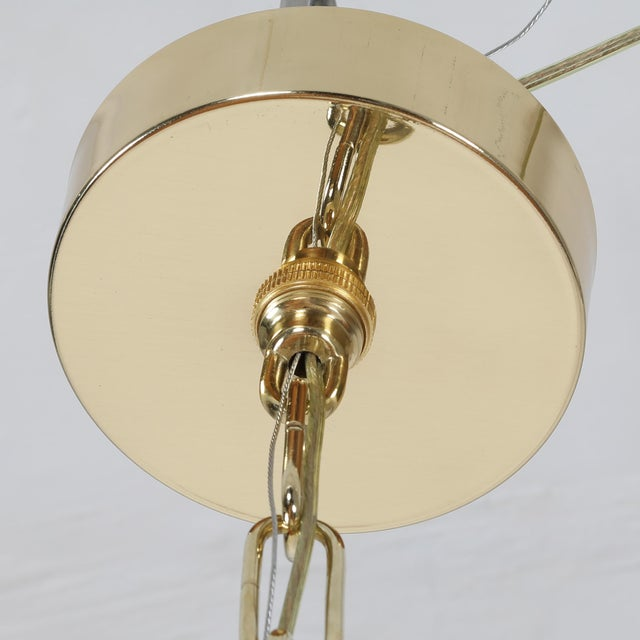 Art Glass 1960's VINTAGE VISTOSI MURANO GLASS DISC CHANDELIER For Sale - Image 7 of 9