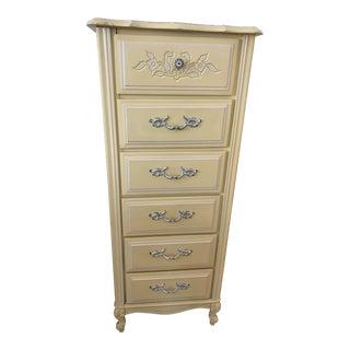 Midcentury Hollywood Regency Six Drawer Dresser For Sale