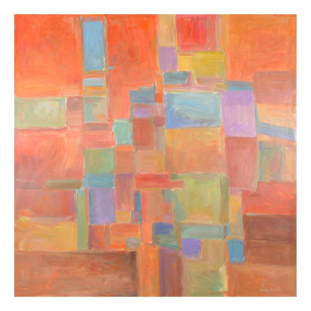 Urban Mosaic Signed Original Painting For Sale In Dallas - Image 6 of 6