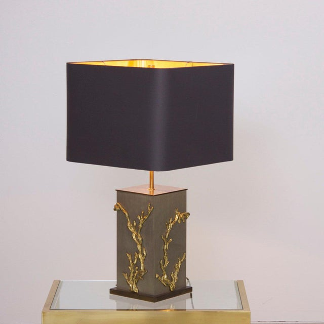 Huge Bronze Algue or Corail Table Lamp by Maison Charles, Signed For Sale - Image 6 of 6